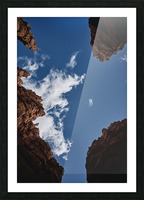 Zion from Below Picture Frame print