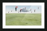 Surreal Floating Men Picture Frame print