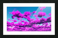 Vivid Purple Cloudscape Picture Frame print