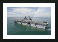 The amphibious assault ship USS Wasp transits the Atlantic Ocean. Picture Frame print