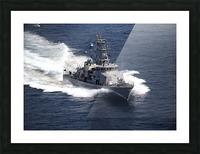 The cyclone-class coastal patrol ship USS Firebolt transits the Arabian Gulf. Picture Frame print