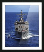 USS Comstock transits the Indian Ocean. Picture Frame print
