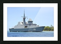 The Singapore frigate RSS Intrepid. Picture Frame print