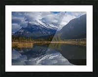 Mt. Rundle mirrors Picture Frame print