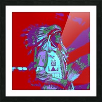 Indian Chief Pop Art Picture Frame print