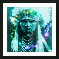Magical Indian Chief Picture Frame print