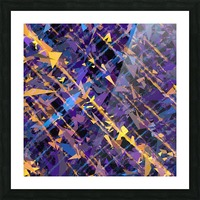 splash geometric triangle pattern abstract background in blue purple yellow Picture Frame print