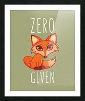 Zero Fox Given Picture Frame print