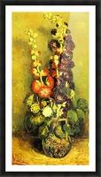 Hollyhocks by Van Gogh Picture Frame print
