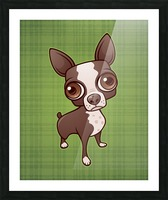 Zippy the Boston Terrier Picture Frame print