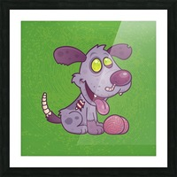 Zombie Puppy Picture Frame print