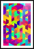 Vivid Pattern I Picture Frame print