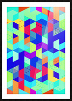 Vivid Pattern II Picture Frame print