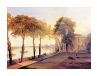 Home of William Moffatt by Joseph Mallord Turner Picture Frame print