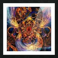 Colorful space Picture Frame print