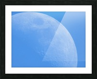 Daytime Moon Picture Frame print