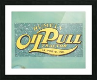 Rumely Tractor Oil Pull Sign Picture Frame print