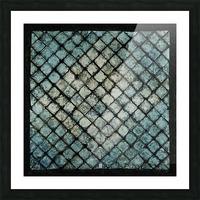Les bleus vitraux -  Contemporary Art Impression et Cadre photo