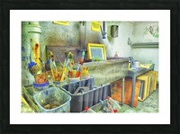 Paintbrushes Picture Frame print