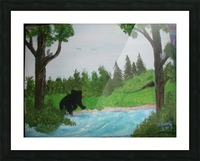 Bear territory  Picture Frame print