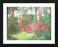 Maine Elk Picture Frame print