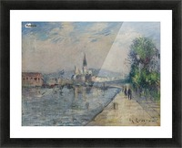 Rouen, Banks of the Seine Picture Frame print