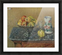 Fruit Bowl with Apples and a Jug Picture Frame print