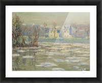 The Oise at Winter Picture Frame print