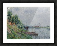 The Riverbank, Oise Picture Frame print