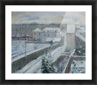 View of Triel under the Snow Picture Frame print