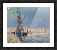 The Martigues, the Port of Ferriere Picture Frame print