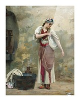 The Laundress Picture Frame print