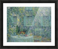 The Table. The Sun on the Leaves, Gerberoy Picture Frame print