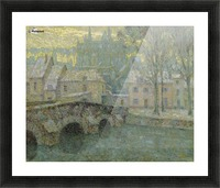 Chartres in Snow Picture Frame print