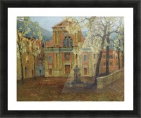 The Church of Dolceacqua Picture Frame print