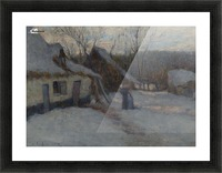 Snowy Landscape, Etaples Picture Frame print