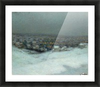 Snow under the Moon Picture Frame print