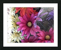 Rainbow of flowers Picture Frame print