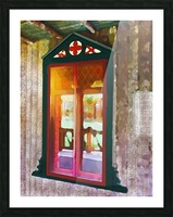 The Hedges Adirondack Window Picture Frame print