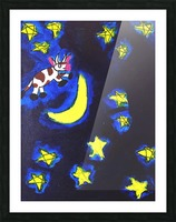 Cow Jumped over the Moon. Dominic H Picture Frame print