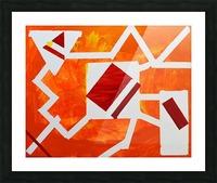 Geometric Orange. Jessica B Picture Frame print