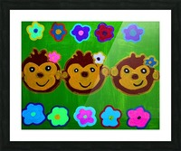 Chain of Monkey.Ali H Picture Frame print