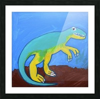 Dino. Dominic H Picture Frame print