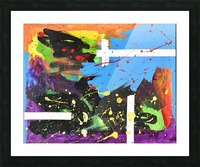 Bright Abstract. Walker W. Picture Frame print