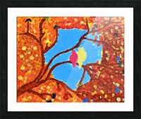 Love Birds. Maggie Picture Frame print