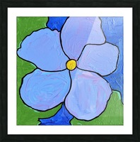 Purple Flower. Jessica A Picture Frame print