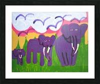 Purple Elephants. Michael D. Picture Frame print