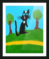 Meow. Susan S Picture Frame print