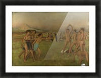 Young Spartans Exercising Picture Frame print