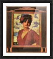 Lady in Red by Franz von Stuck Picture Frame print